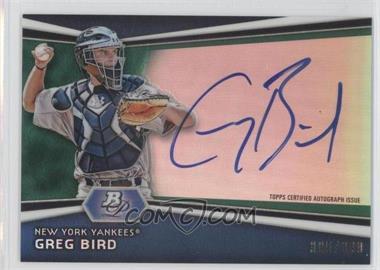 2012 Bowman Platinum Autographed Prospects Green Refractor #AP-GB - Greg Bird /399