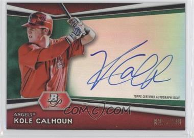 2012 Bowman Platinum Autographed Prospects Green Refractor #AP-KC - Kole Calhoun /399