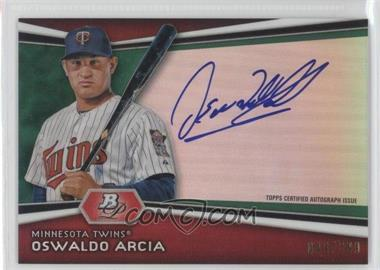 2012 Bowman Platinum Autographed Prospects Green Refractor #AP-OA - Oswaldo Arcia /399