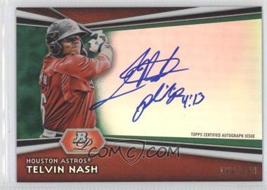 2012 Bowman Platinum Autographed Prospects Green Refractor #AP-TN - Telvin Nash /399