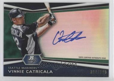 2012 Bowman Platinum Autographed Prospects Green Refractor #AP-VC - Vinnie Catricala /399