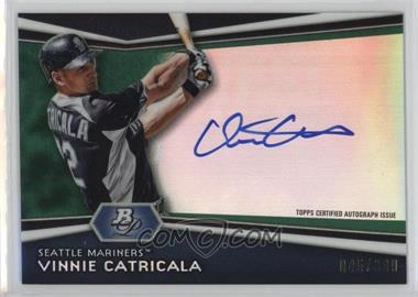 2012 Bowman Platinum Autographed Prospects Green Refractor #AP-VC - Vinnie Catricala /399