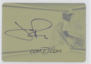 2012 Bowman Platinum Autographed Prospects Printing Plate Yellow #AP-JR - Joe Ross /1