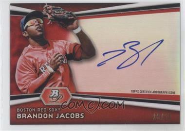 2012 Bowman Platinum Autographed Prospects Red Refractor #AP-BJ - Brandon Jacobs /25