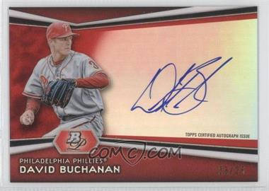 2012 Bowman Platinum Autographed Prospects Red Refractor #AP-DBU - David Buchanan /25