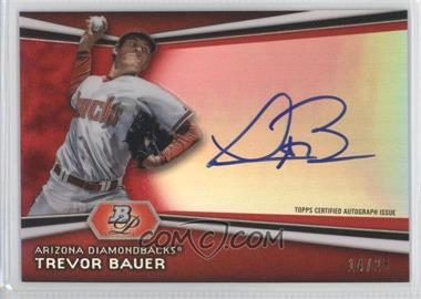 2012 Bowman Platinum Autographed Prospects Red Refractor #AP-TB - Trevor Bauer /25