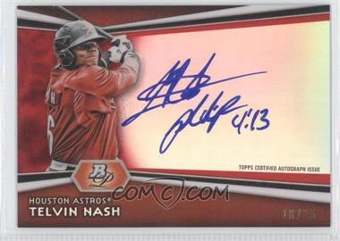 2012 Bowman Platinum Autographed Prospects Red Refractor #AP-TH - Telvin Nash /25