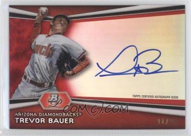2012 Bowman Platinum Autographed Prospects Red Refractor #TB - Trevor Bauer /25