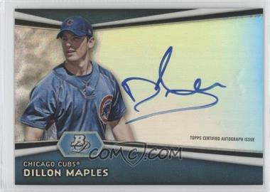 2012 Bowman Platinum Autographed Prospects #AP-DM - Dillon Maples