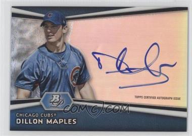 2012 Bowman Platinum Autographed Prospects #AP-DM - Dillon Maples
