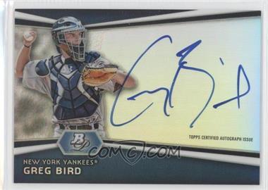 2012 Bowman Platinum Autographed Prospects #AP-GB - Greg Bird