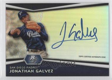 2012 Bowman Platinum Autographed Prospects #AP-JG - Jonathan Galvez
