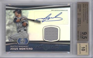 2012 Bowman Platinum Autographed Relic [Autographed] #AR-JMO - Jesus Montero [BGS9.5]