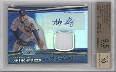 2012 Bowman Platinum Autographed Relic Blue Refractor [Autographed] #AR-AR - Anthony Rizzo /199 [BGS9.5]