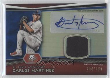 2012 Bowman Platinum Autographed Relic Blue Refractor [Autographed] #AR-CM - Carlos Martinez /199