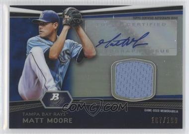 2012 Bowman Platinum Autographed Relic Blue Refractor [Autographed] #AR-MM - Matt Moore /199