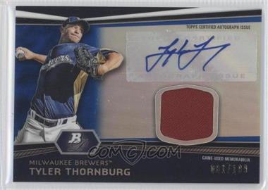 2012 Bowman Platinum Autographed Relic Blue Refractor [Autographed] #AR-TT - Tyler Thornburg /199