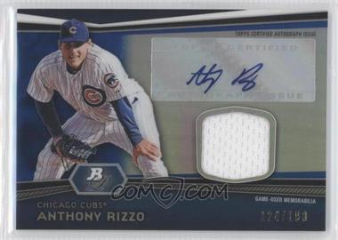 2012 Bowman Platinum Autographed Relic Blue Refractor #AR-AR - Anthony Rizzo /199
