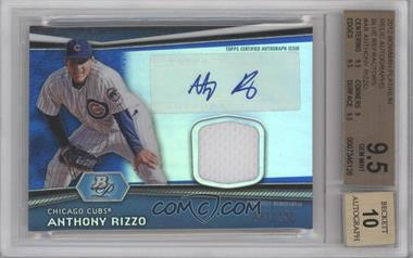 2012 Bowman Platinum Autographed Relic Blue Refractor #AR-AR - Anthony Rizzo /199 [BGS 9.5]