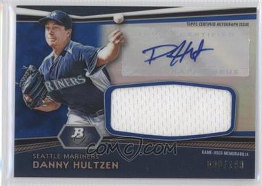 2012 Bowman Platinum Autographed Relic Blue Refractor #AR-DH - Danny Hultzen /199