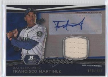 2012 Bowman Platinum Autographed Relic Blue Refractor #AR-FM - Francisco Martinez /199