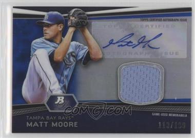 2012 Bowman Platinum Autographed Relic Blue Refractor #AR-MM - Matt Moore /199