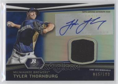 2012 Bowman Platinum Autographed Relic Blue Refractor #AR-TT - Tyler Thornburg /199