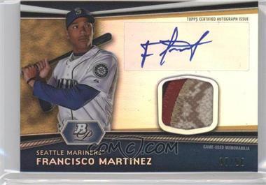 2012 Bowman Platinum Autographed Relic Gold Refractor Patch [Autographed] #AR-FM - Francisco Martinez /50
