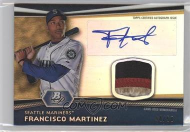 2012 Bowman Platinum Autographed Relic Gold Refractor Patch #AR-FM - Francisco Martinez /50
