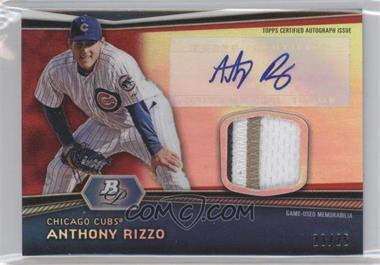 2012 Bowman Platinum Autographed Relic Red Refractor Patch [Autographed] #AR-AR - Anthony Rizzo /25