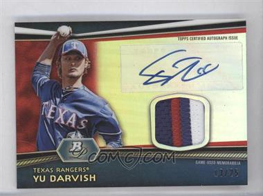 2012 Bowman Platinum Autographed Relic Red Refractor Patch [Autographed] #AR-YD - Yu Darvish /25