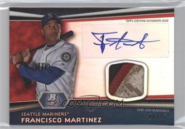 2012 Bowman Platinum Autographed Relic Red Refractor Patch #AR-FM - Francisco Martinez /25