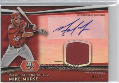 2012 Bowman Platinum Autographed Relic Red Refractor Patch #AR-MMS - Mike Morse /25