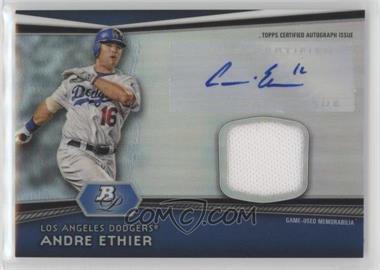 2012 Bowman Platinum Autographed Relic #AR-AE - Andre Ethier