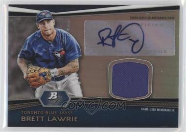2012 Bowman Platinum Autographed Relic #AR-BL - Brett Lawrie