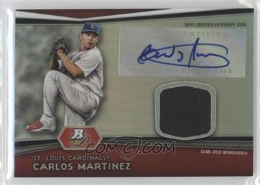 2012 Bowman Platinum Autographed Relic #AR-CM - Carlos Martinez
