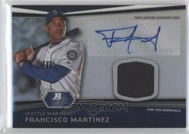2012 Bowman Platinum Autographed Relic #AR-FM - Francisco Martinez
