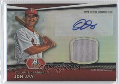 2012 Bowman Platinum Autographed Relic #AR-JJ - Jon Jay