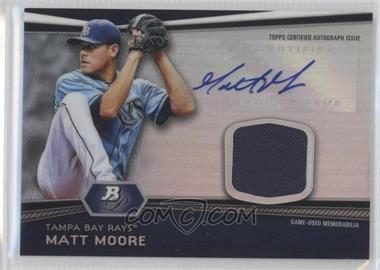 2012 Bowman Platinum Autographed Relic #AR-MM - Matt Moore