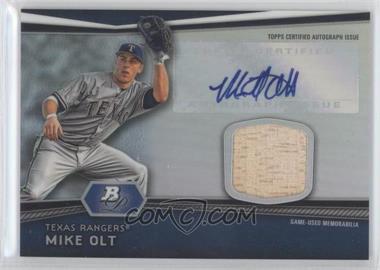 2012 Bowman Platinum Autographed Relic #AR-MO - Mike Olt