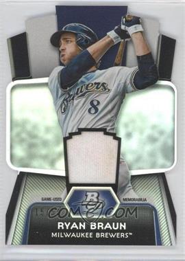 2012 Bowman Platinum Cutting Edge Stars Die-Cut Relics #CES-RB - Ryan Braun /50
