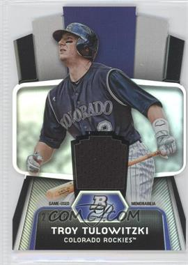2012 Bowman Platinum Cutting Edge Stars Die-Cut Relics #CES-TT - Troy Tulowitzki /50