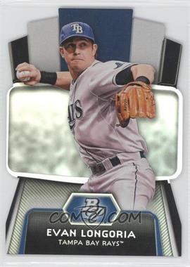 2012 Bowman Platinum Cutting Edge Stars Die-Cut #CES-EL - Evan Longoria