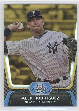 2012 Bowman Platinum Gold #36 - Alex Rodriguez