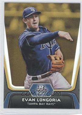 2012 Bowman Platinum Gold #54 - Evan Longoria