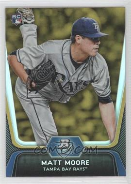 2012 Bowman Platinum Gold #99 - Matt Moore