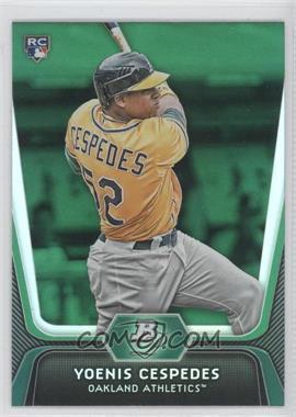 2012 Bowman Platinum Green #21 - Yoenis Cespedes
