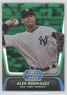 2012 Bowman Platinum Green #36 - Alex Rodriguez