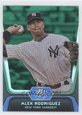 2012 Bowman Platinum Green #36 - Alex Rodriguez
