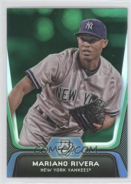 2012 Bowman Platinum Green #45 - Mariano Rivera